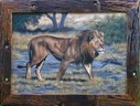 Original Wildlife Art - Page on Lions-Wild